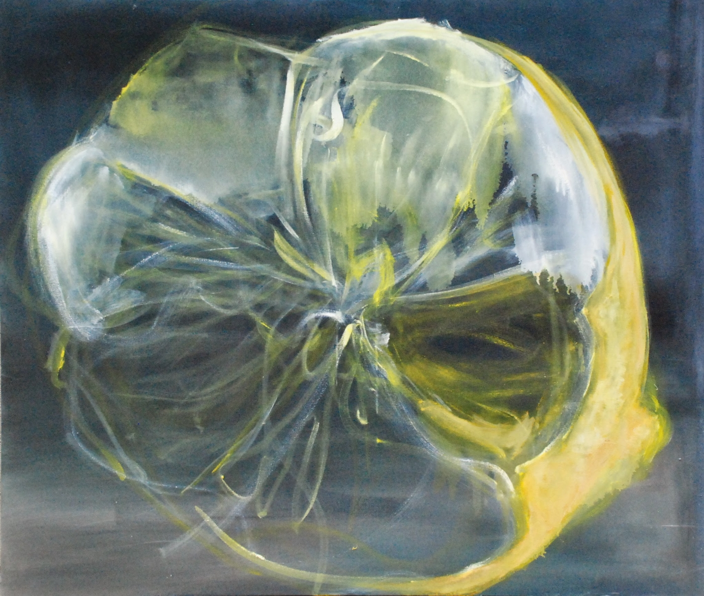 "lemon cathedral - oil on canvas 50""x64"""