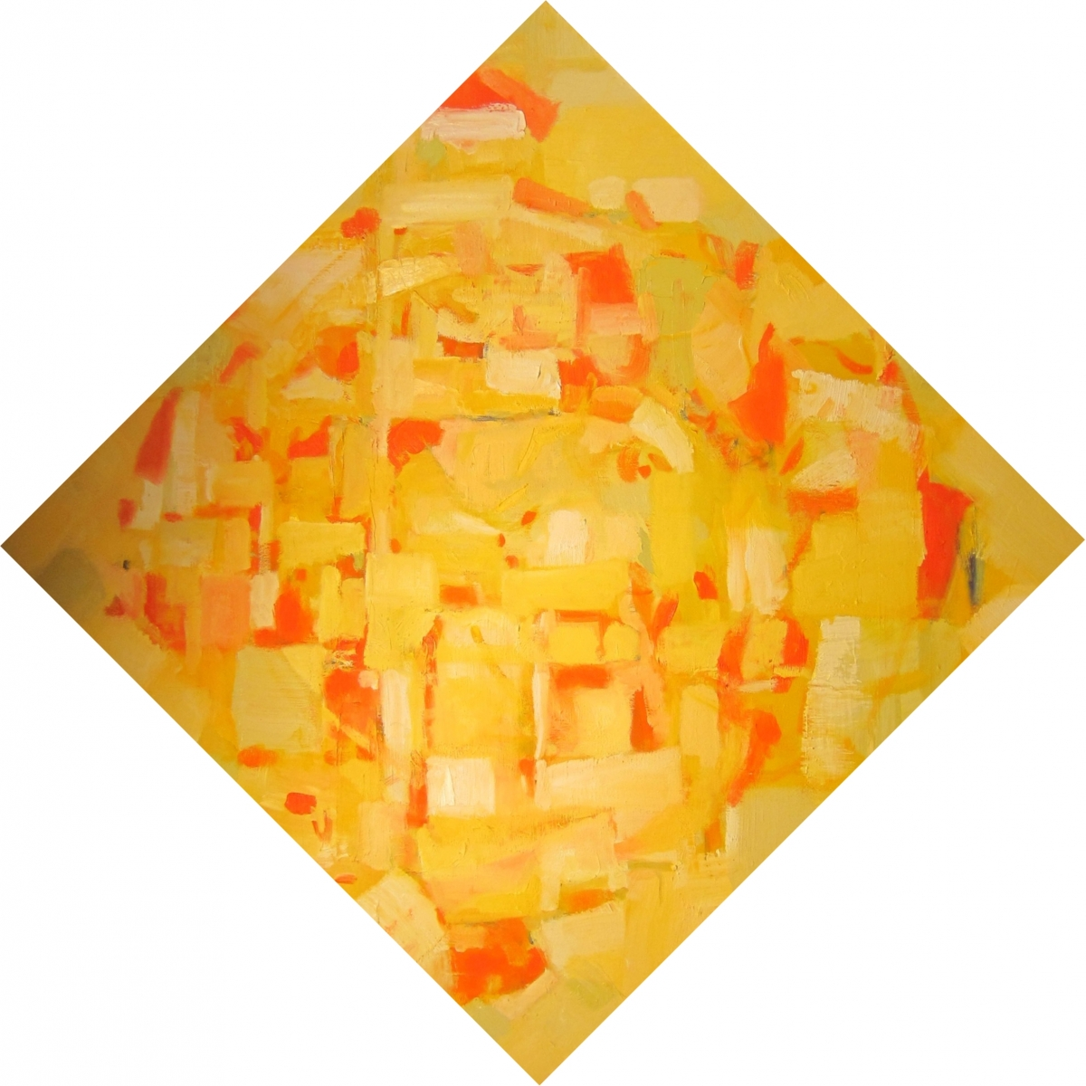 "yellow diamond - oil on canvas 36""x36"""