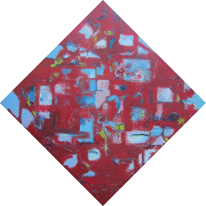 "red diamond - oil on canvas 36""x36"""
