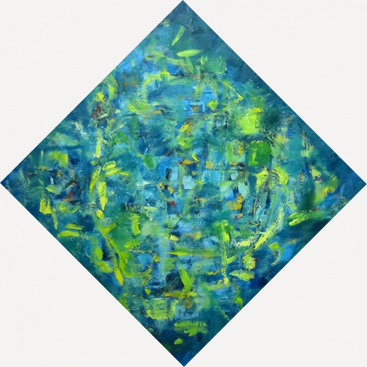 "green diamond - oil on canvas 36""x36"""